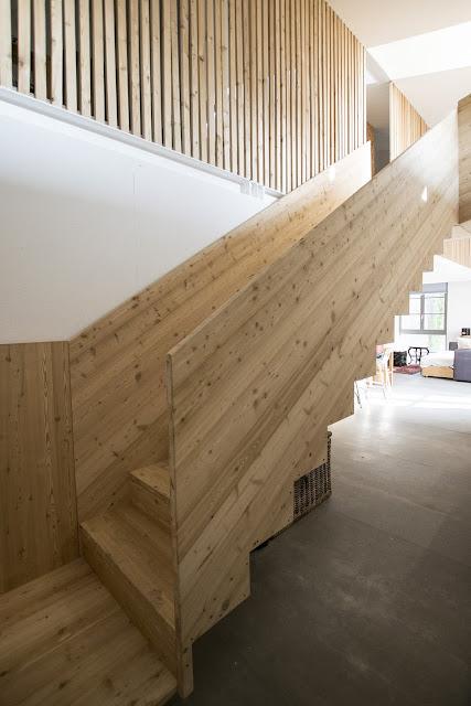 scala in legno per loft