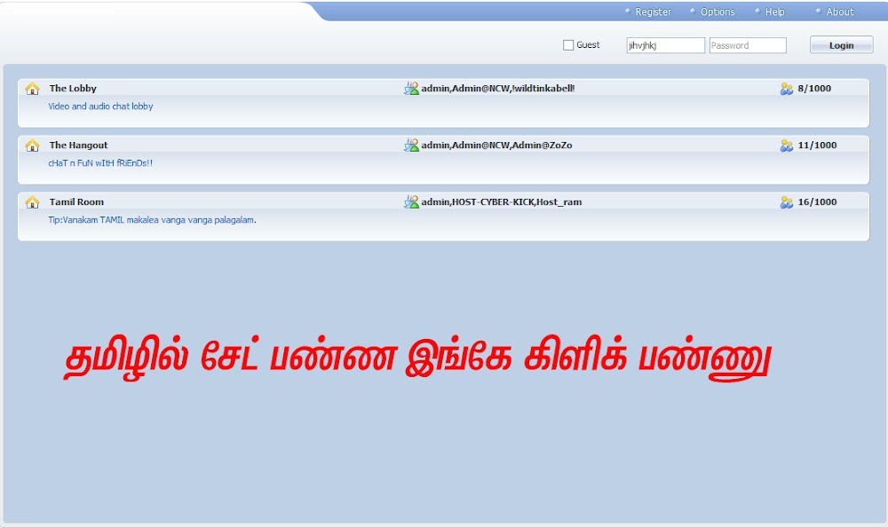 Online chat with registration