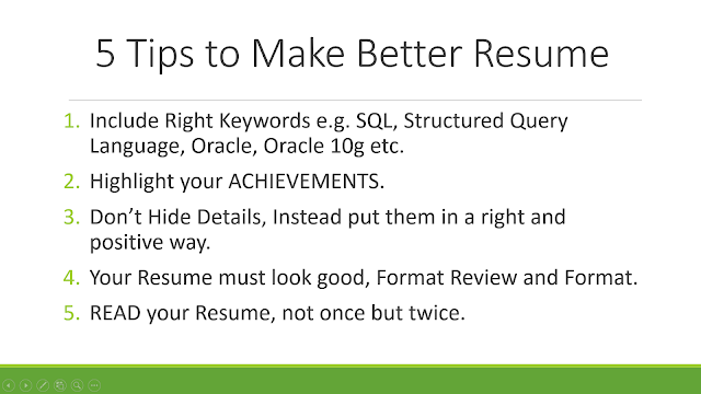 5 tips to make better resume programmers