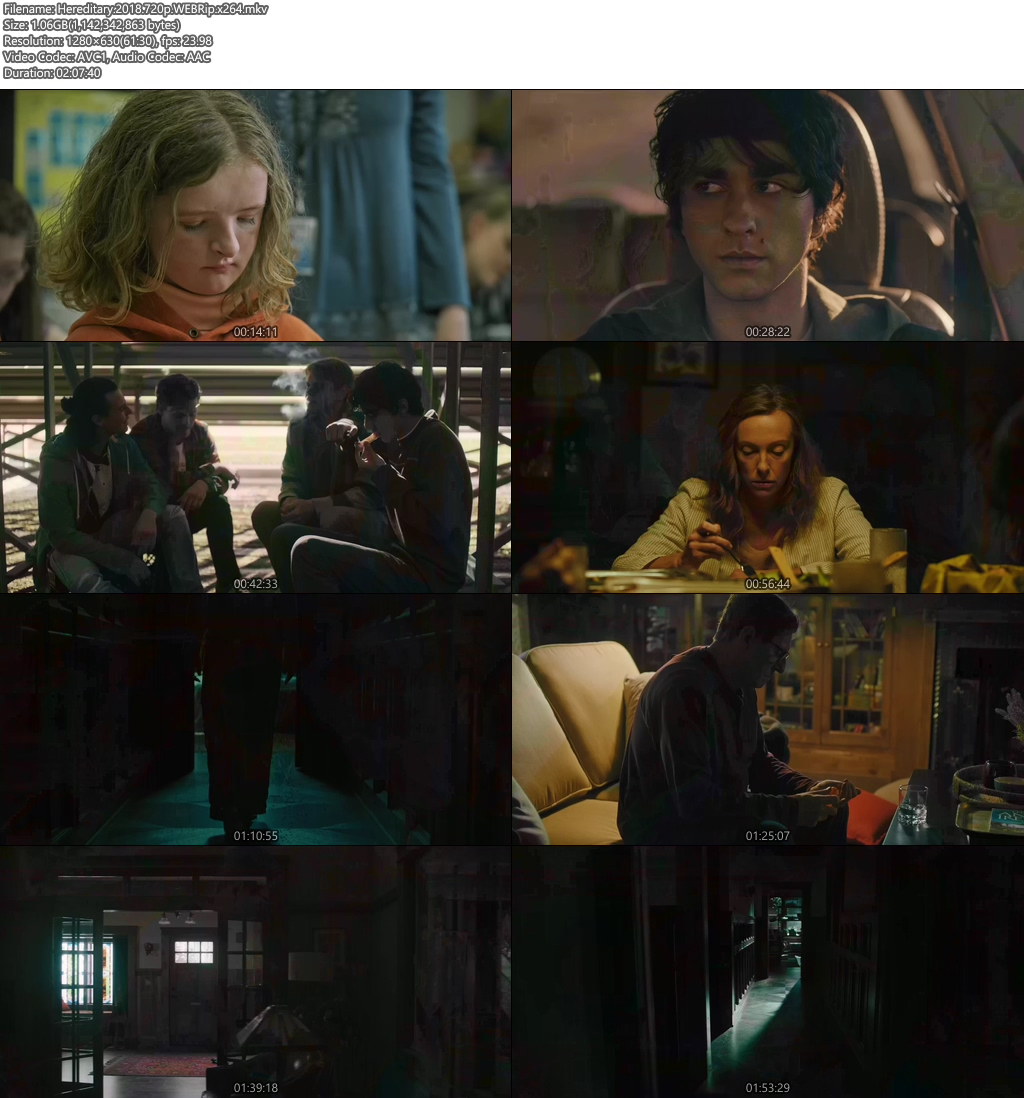 Hereditary 2018 720p WEBRip x264 | 480p 300MB | 100MB HEVC Screenshot