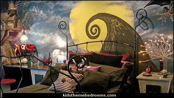 Nightmare Before Christmas Bedroom  nightmare before christmas bedroom decorating  Nightmare Before Christmas halloween Christmas bedroom  Nightmare before christmas, Jack nightmare before christmas  Christmas and Halloween in your bedroom Jack Skellington