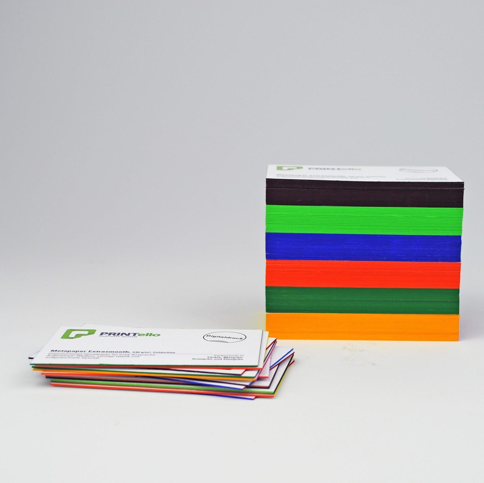 Printello Blog Visitenkarten Mit Farbschnitt Drucken Lassen