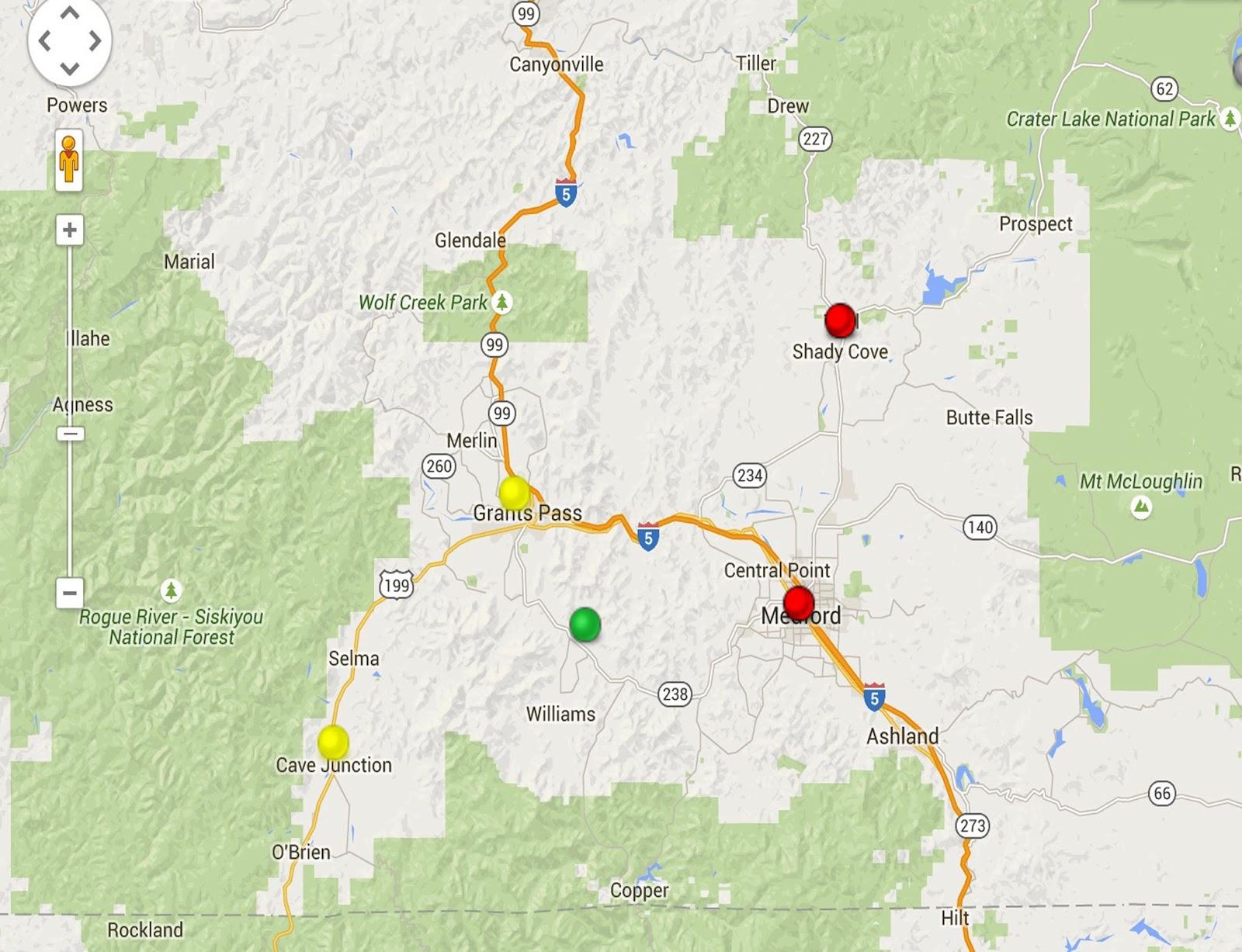 Oregon Smoke Information Medford and areas of SW Oregon still