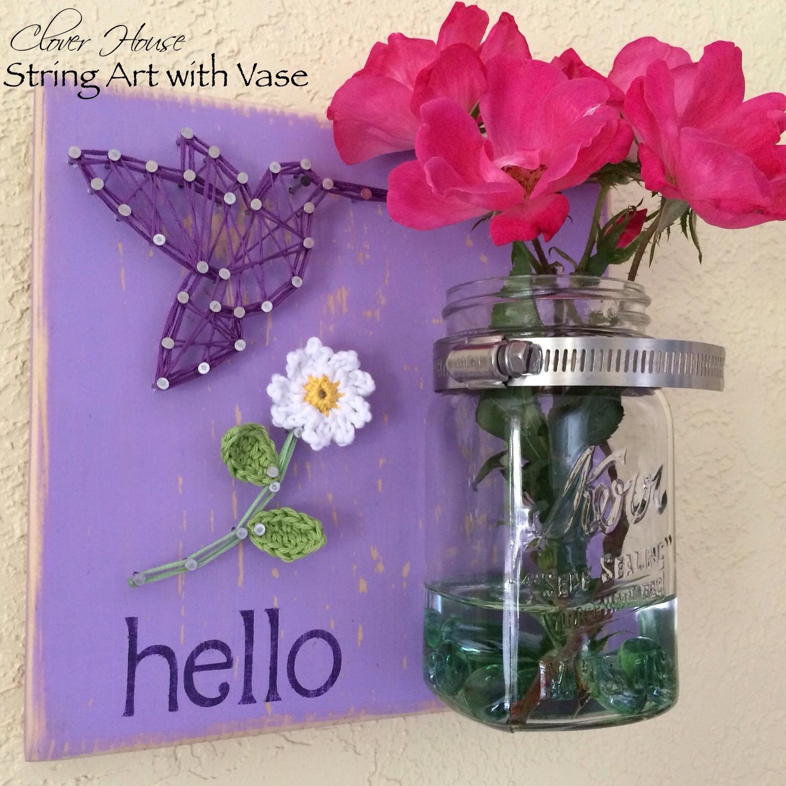 Clover house string art with a mason jar vase string art with a mason jar vase reviewsmspy