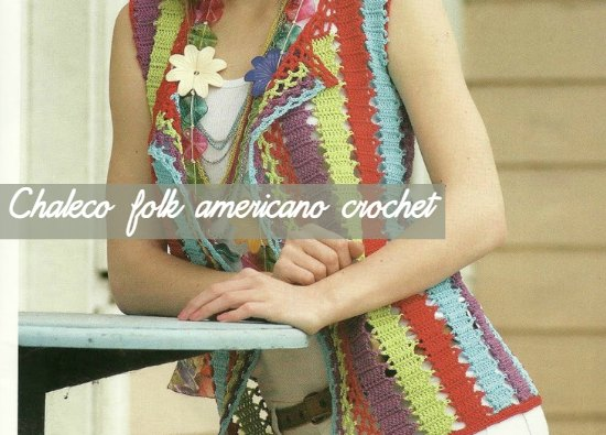 Chaleco folk americano crochet