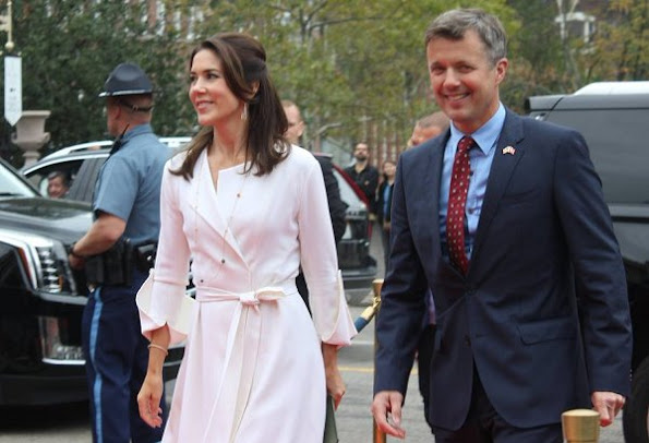 Crown princess Mary wore Christian Louboutin Python Pumps, new dress, dresscoat clutch bag