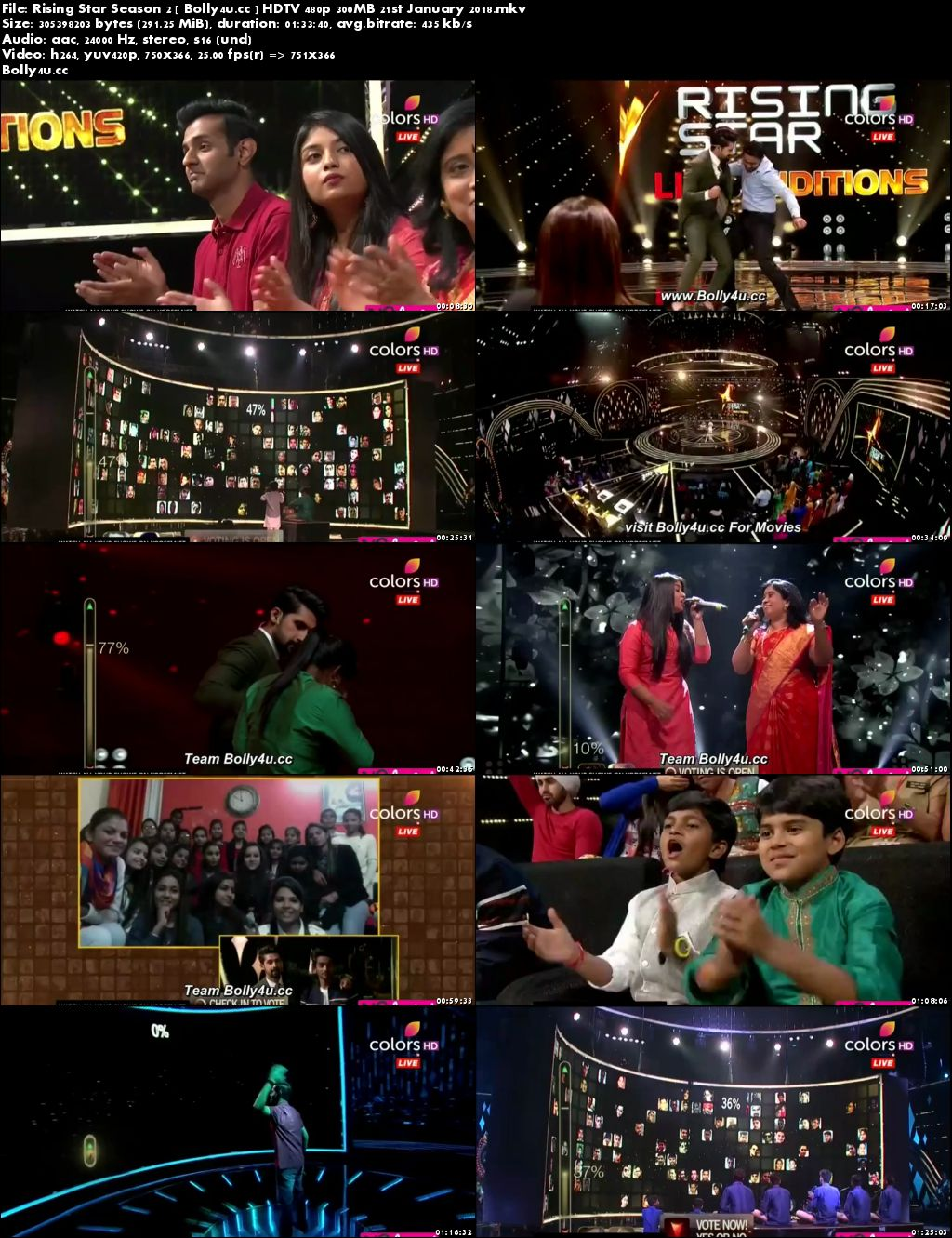 Rising Star Season 2 HDTV 480p 300MB 21 January 2018 Download
