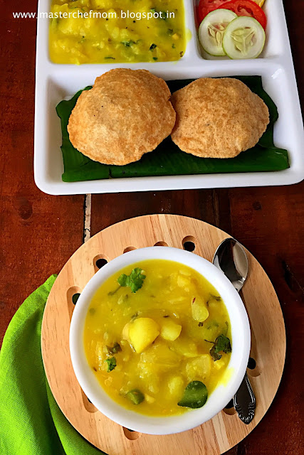 Tamilnadu Style Poori Masal ( South Indian Aloo Masala for Poori)