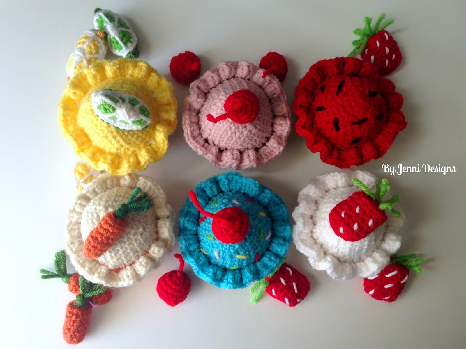 By Jenni Designs Free Crochet Amigurumi Pattern Cherry On Top Cupcake