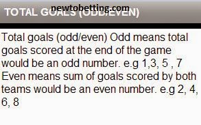 total goals odd or even betting type