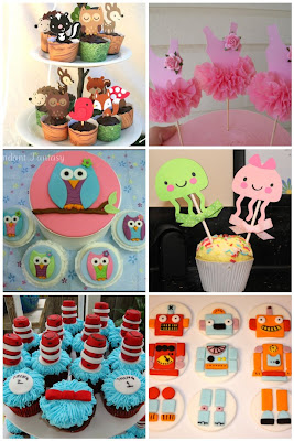 image cupcake toppers handmade