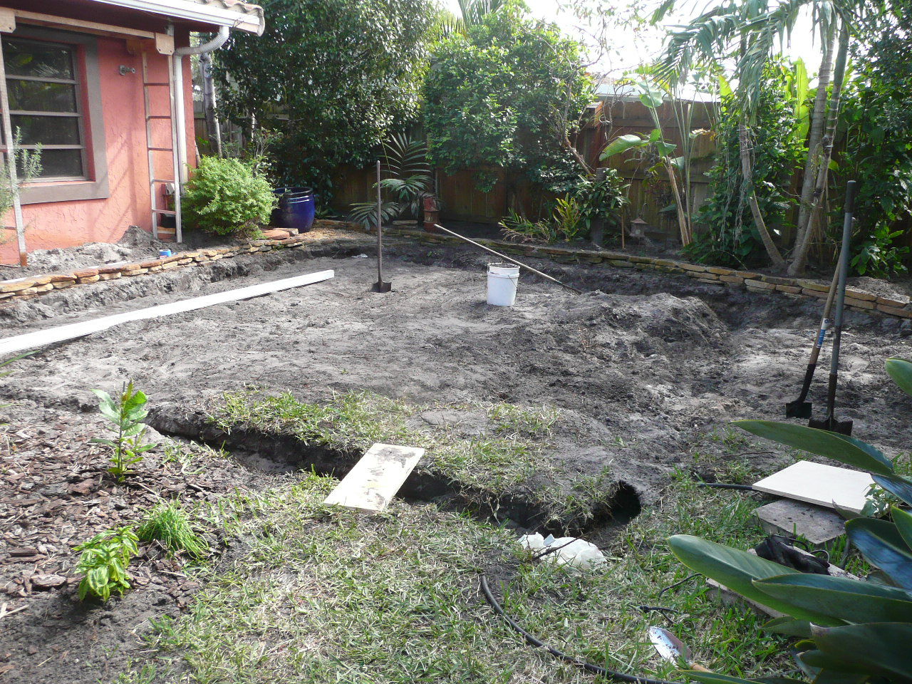 gardening south florida style our new backyard patio