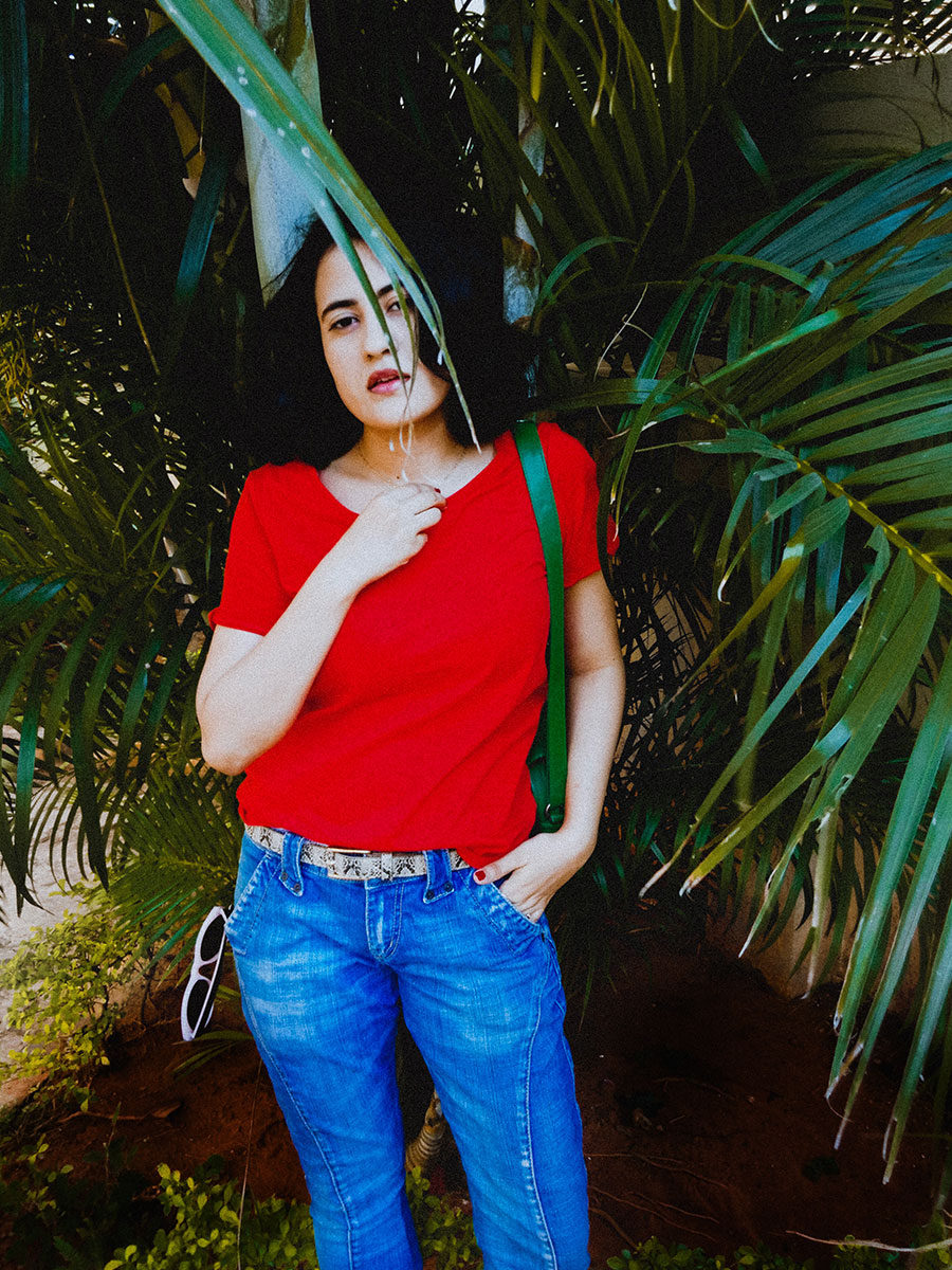 Red tee, basics T-Shirt , Levi's womens Denim ,Zara shoes, indianstyleblogger, style blog