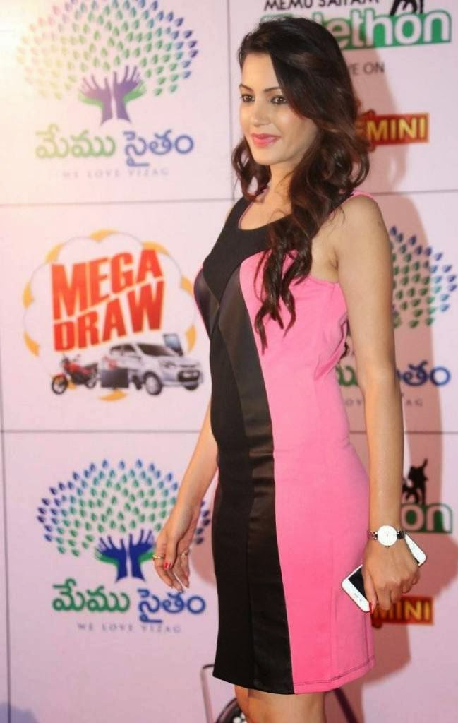 Tollywood Actress Deeksha Panth, Deeksha Panth Hot HD Pics in Pink Dress