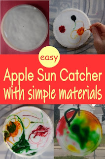 easy Apple Sun Catcher with simple materials