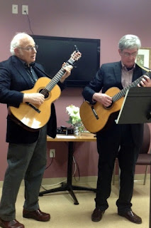 guitar players from a prior memory cafe at the Senior Center