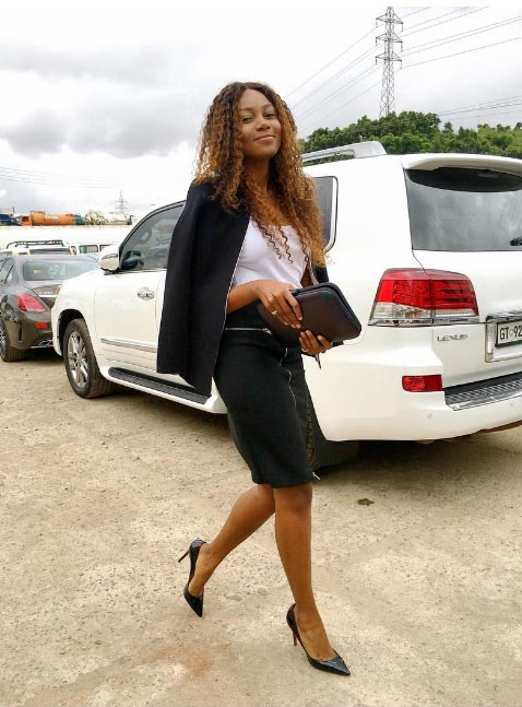 Fine lady: Yvonne Nelson steps out for chruch in Ghana
