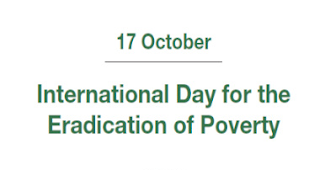 October 17: International Day for the Eradication of Poverty
