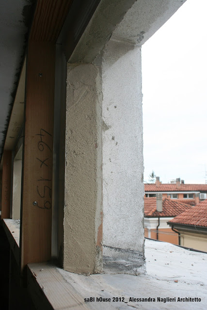 cornice isolante su controtelaio insulating on frame
