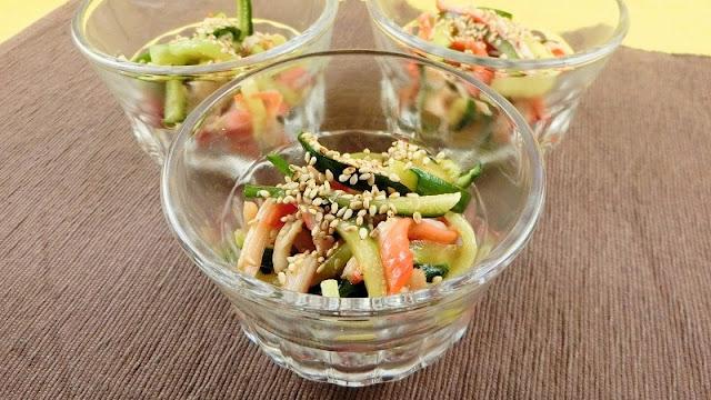 きゅうりとカニカマの中華サラダ
