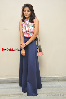 Kannada Actress Mahi Rajput Pos in Floral Printed Blouse at Premam Short Film Preview Press Meet  0021.jpg