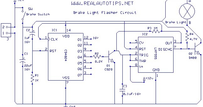 wiring diagram brake light flasher using cd4024 and lm7555 ... auto brake light wiring diagram auto fog light wiring diagram