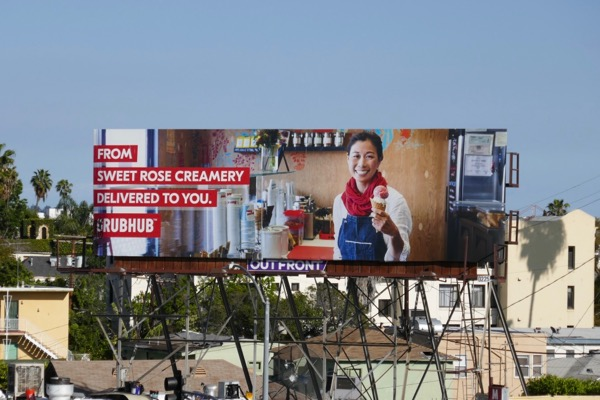 Sweet Rose Creamery Grubhub billboard