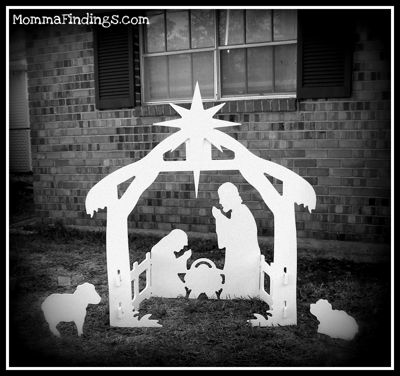 Outdoor Decor Nativity Scene