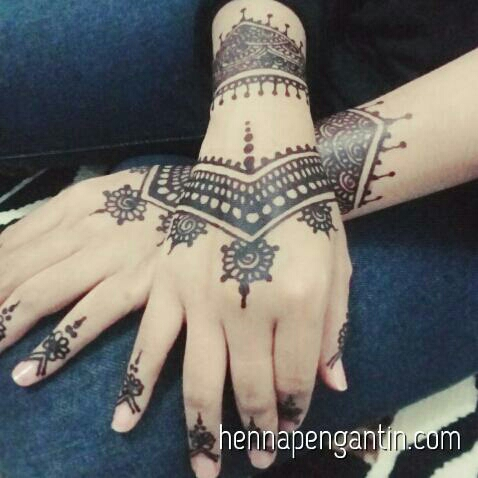 Henna Art Simple Di Telapak Tangan Makedes Com