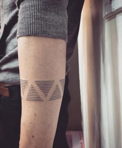 Estes linear triângulos