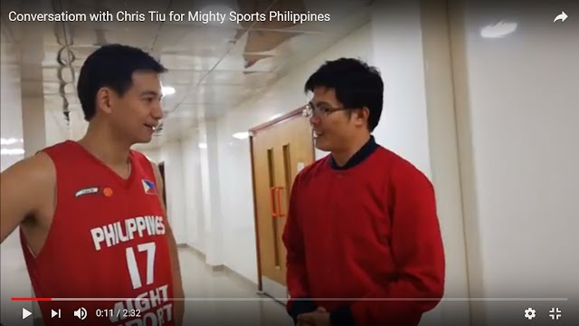 Conversation with Chris Tiu for Mighty Sports Delegation in Dubai