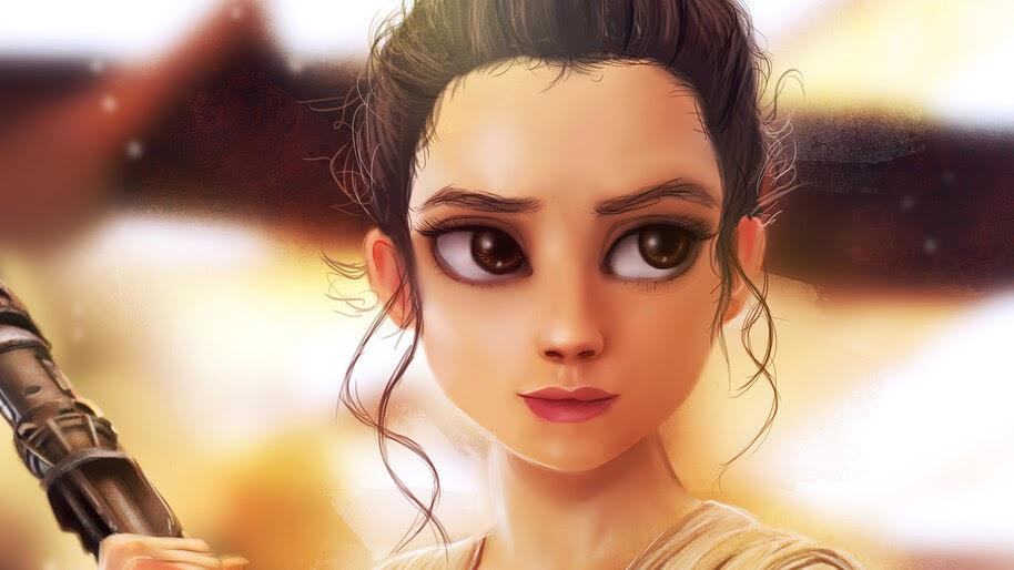 Rey Star Wars Cute 4k Wallpaper 7 713