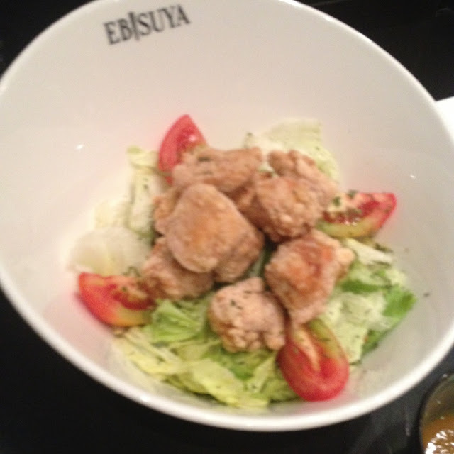 Chicken salada at Ebisuya