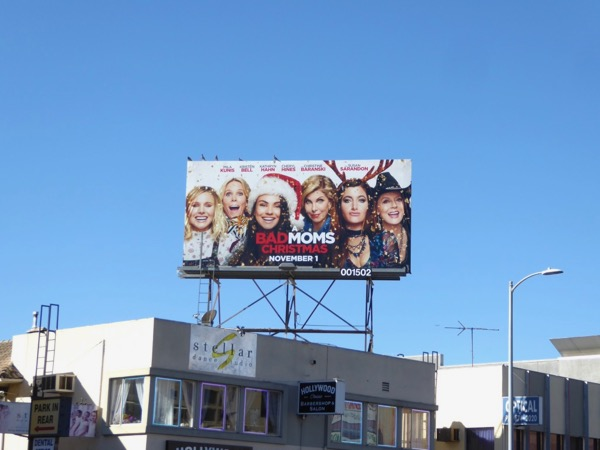 Bad Moms Christmas billboard