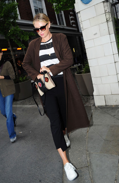 Tennis Player, @ Maria Sharapova at Bleubird Restaurant in Chelsea