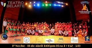 Primer Noche de folclor colombiano Teatro Belarte