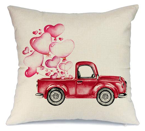 Valentine Balloons Pillow