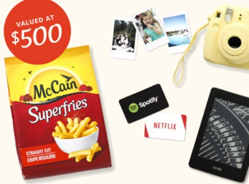 Mccain 3 Superfries Prize Packs Contest