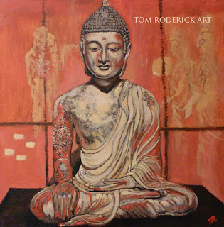 Buddha painting by Boulder contemporary artist Tom Roderick