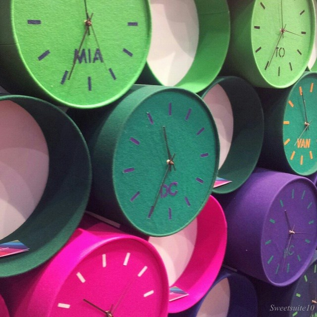 clocks made out of felt