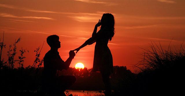 предложени на брак по залез слънце
