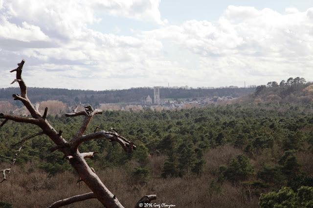 Vue sur Larchant depuis la platière de la Dame Jeanne