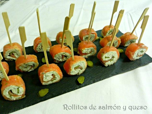 """Rollitos de salmón y queso"""""""