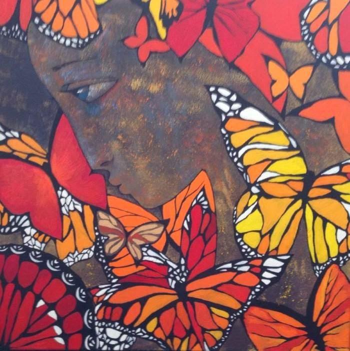 Талантливая казахская художница. Akzhana Abdalieva