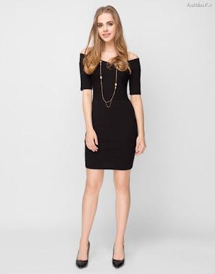 Vestidos negros manga corta
