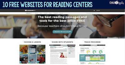 These free reading activity websites are perfect for upper elementary reading centers.