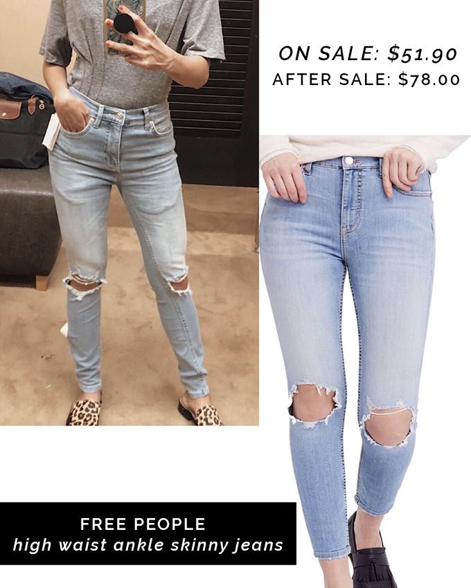 990a553e6f5 Free People High Waist Skinny Jeans on sale  51.90 (after sale  78.00