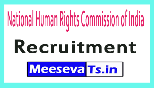 National Human Rights Commission of India NHRC Recruitment