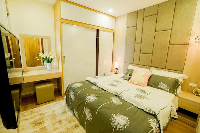 Thiết kế phòng ngủ chính của căn hộ 2 ngủ