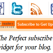 Sosial Media Widget Buatan Tangan dengan Feedburner dan Subscribe Button